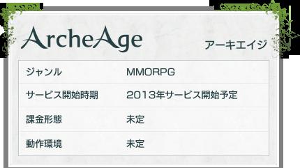 ArcheAge:2013年3月25日時点での公式情報
